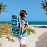 Tommy Bahama mochila plegable silla de playa en color azul y ...