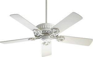 """Quorum 35525-8 Empress - 52"""" Ceiling Fan, Studio White Finish"""