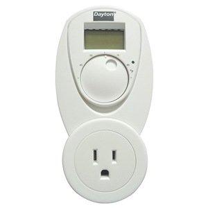 Dayton 1UHG6 Line Voltage Control, LCD , Outlet Plug