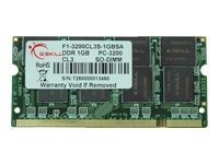 G.SKILL 1GB DDR SO-DIMM DDR 333 (PC 2700) 200-Pin Laptop Memory Model - Pc Ddr 2700 Laptop