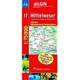 LGN Radwanderkarte Niedersachsen, Bl.17, Nienburg