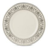 (Lenox Royal Courtyard Platinum Ivory China 9 Accent Plate)
