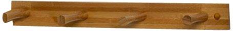 Spectrum Diversified Wood Hook Rack, 4 Peg, (Spectrum Wood)