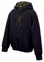 Browning Youth Buckmark Camo Sweatshirt (Medium, Black)