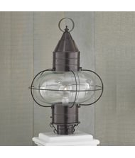 Norwell Lighting 1510-BR-CL Classic Onion - One Light Large Post, Glass Options: Clear Glass, Choose Finish: BR: Bronze