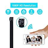 Spy Camera Mini Hidden Camera 720P Wireless WiFi Nanny Cam Indoor/Outdoor Portable Home Security Camera Motion Detection Loop Recording