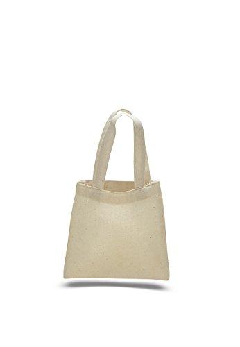 (3 Dozen (Pack of 36) - Cotton Canvas Mini Tote Bag (Natural, 36))