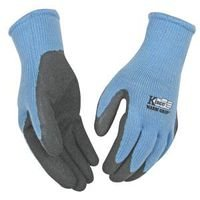 KINCO 1790W-L Women's Warm Grip Thermal Latex Coated Gloves, Large, Blue/Gray (Kinco Warm Grip)