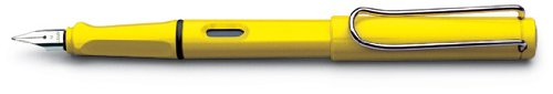 LAMY Safari Fountain Pen, Yellow, Extra-Fine Nib (L18EF)