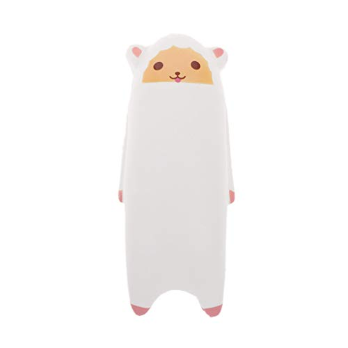 PoityA Novelty Long Body Animals Jumbo Squishy Toys Slow Rising Antistress Toy Stress Relief Toy Gift Toy White - Animal Long Body Real