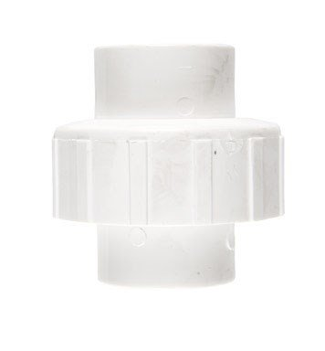 King Brothers Inc. WU-0500-S 1/2-Inch Slip PVC Union, White ()