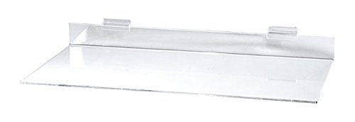 - KC Store Fixtures 01618 Acrylic Slatwall Shelf, 12