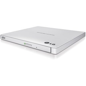 LG GP65NW60 Portable USB External DVD Burner and Drive (White) (Certified Refurbished)