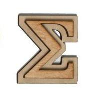 Sigma Letter - Official Greek Wooden Letters, 2