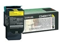 Lexmark C540H1YG Laser Toner Cartridge – Yellow High Capacity, Works for C540n, C543dn, C544dn, C544dtn, Office Central