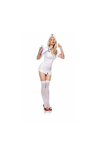 [Nurse Sexy Costume- Adult - XLarge] (Naughty Nurse Halloween)