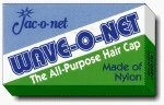 Wave-O-Net Medium Weight Hairnets--Black Packed 24 per display,1 Display of 24 Nets