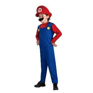 Super Mario (Mario) Child Halloween Costume Size 12-14 Large (Mario Costume Girls)