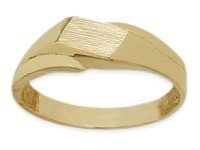 14 Karat Yellow Gold Rectangle Baby Ring (Ring Baby Gold Yellow Rectangle)
