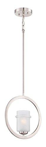 One Pendant Light Satin Platinum - Satin Platinum Omega 1 Light Mini Pendant