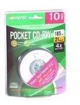 "Memorex 185MB/21-Minute 3"" Pocket CD-RW Media (10-Pack)"