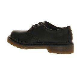 Dr. Martens 3eye zapatos de encaje (Jnr) Black Leather