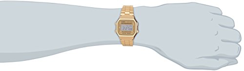 c13f3e7c66e Amazon.com  Casio Vintage Retro Gold Digital Dial Stainless Steel Unisex  Watch A168WG9UR  Casio  Watches