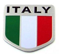 Italy Italian Car Alloy Aluminum 3D Flag Emblem Badge Decals Sticker 2