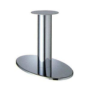 e-kanamono テーブル脚 オーバルS7700 ベース700x420 パイプ101.6φ 受座280φ クロームメッキ AJ付 高さ700mmまで B012CC7O3O