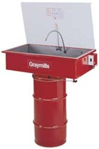 Graymills DMS232 Manual Sink on a Drum Parts Washer (Drum Not Included) by Graymills