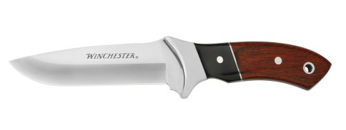 Winchester 22-41790 Pakka Wood Large Fixed Blade Knife, Fine Edge, Outdoor Stuffs