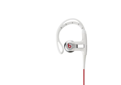 Monster Cable PowerBeats Sport Headphones In-Ear with Sport Hook - White