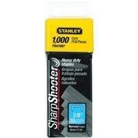 Stanley Sharpshooter Staples TRA706T 3/8 Inch Leg Length, 1000/Box, Pack of 2 (Stanley Staples)