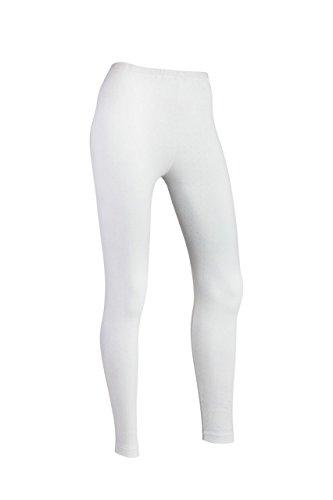 Indera Womens Pointelle Leggings, White, Medium