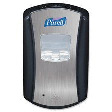 (Purell Hands Free Soap Dispenser, 700 mL, Black/Chrome (132804))
