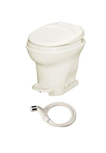 Thetford Aqua-Magic V RV Toilet-High Profile-Parchment Color-Hand Sprayer-Pedal Flush 31680