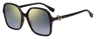 Sunglasses Fendi Ff 287 /S 0086 Dark Havana / FQ gray sf gold sp lens