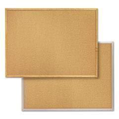 QRT2304 - Frame Color : Aluminum - Quartet Cork Bulletin Board - Each