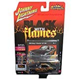 Johnny Lightning Street - NEW DIECAST TOYS CAR JOHNNY LIGHTNING 1:64 STREET FREAKS 2018 RELEASE 2 - VERSION A - 1968 CHEVROLET CHEVELLE SS 396 FLAT BLACK/GLOSS BLACK WITH FLAMES JLCP7100-24