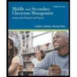Middle and Secondary Classroom Management Lessons from Research and Practice by Weinstein, Carol Simon [McGraw-Hill Humanities/Social Sciences/Languages,2006] [Paperback] 3RD EDITION