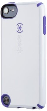 (Speck Products Glossy CandyShell Case for iPod Touch 5 (White/Grape Purple) )