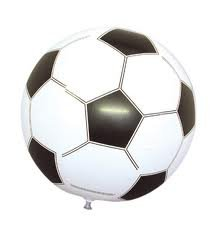 eBuyGB Inflatable Football, 40cm, Pack of 6