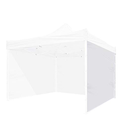Instahibit 1 Pc Side Wall for 10x10 Ft Straight Leg EZ Pop Up Canopy Tent Party Gazebo Shelter Sun Wall Oxford White