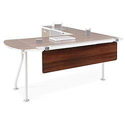 WorkPro ModOffice Modesty Panel, 12''H x 54''W x 5/16''D, Gray/Walnut by WORKPRO
