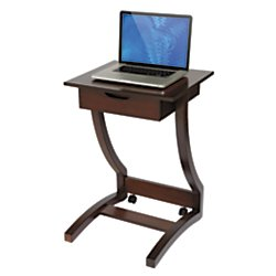 Realspace(R) Coastal Ridge Laptop Cart, 30 5/16in.H x 22 1/4in.W x 21in.D, Mahogany