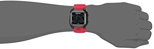 086702565276 - Quiksilver Men's QS/1020BKRD THE GROM Digital Chronograph Red Resin Strap Watch carousel main 2