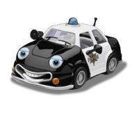 [Chevron Cars Patty Patrol, Police Car 5 in Series, Collectible] (Police Patrol Car)