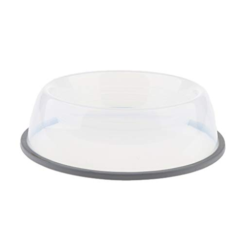 Baosity Plastic Dog Bowls - Easy to Clean - Bacteria & Rust Resistant - Non-Skid No-Tip Base - Clear