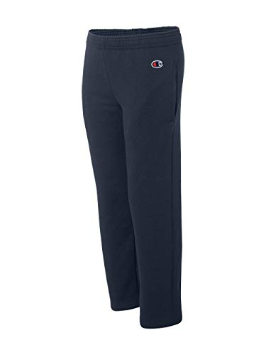 (Champion Boys Boys' Big' Powerblend Eco Fleece Sweatpant, Navy, L)