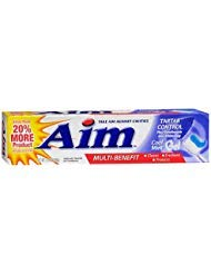 Aim Tartar Control Anticavity Fluoride Toothpaste Gel - 5.5 oz, Pack of 5 ()